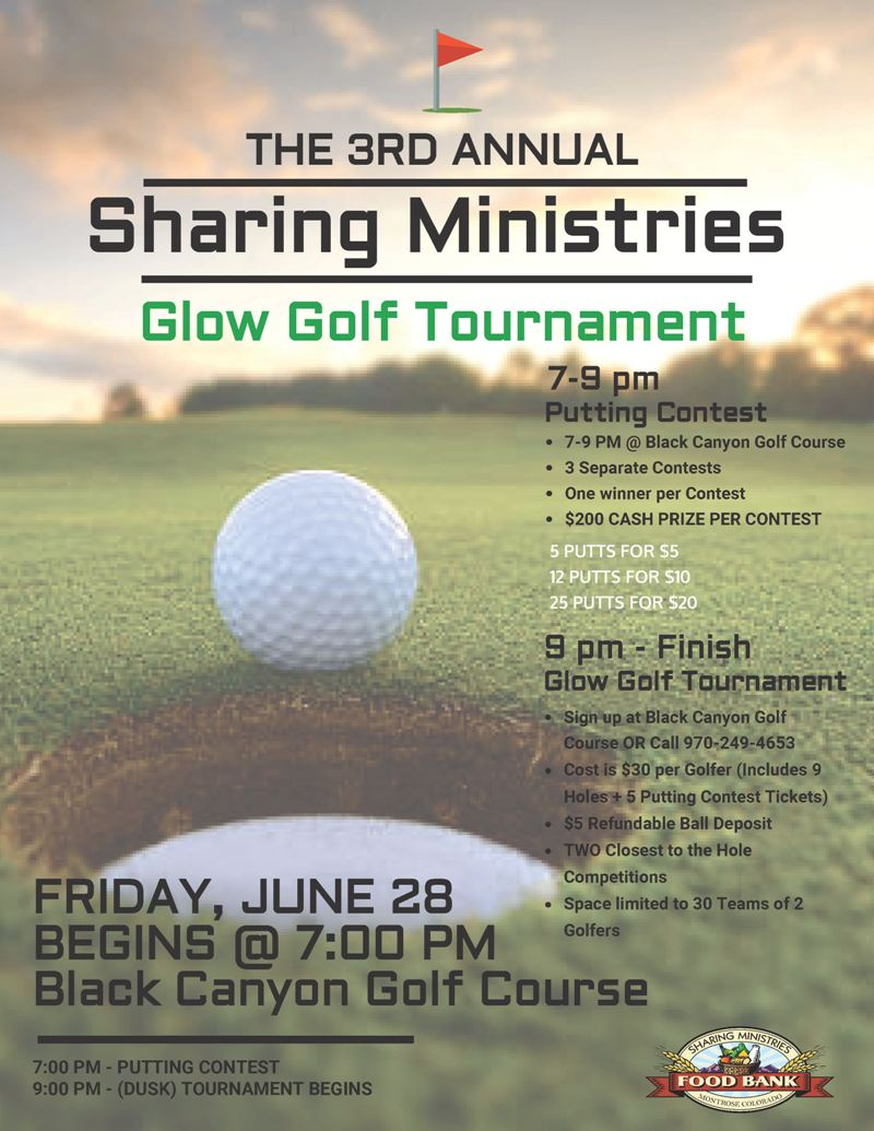 Glow Golf Tournament to benefit Sharing Ministries